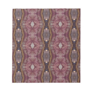 Chic Burgundy Rose Modern Tribal Pattern Notepad