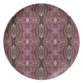 Chic Burgundy Rose Modern Tribal Pattern Plate