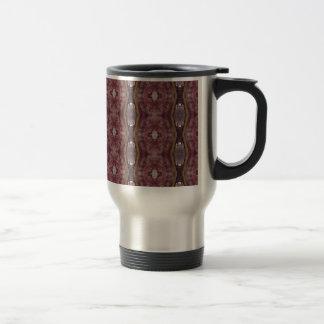 Chic Burgundy Rose Modern Tribal Pattern Travel Mug