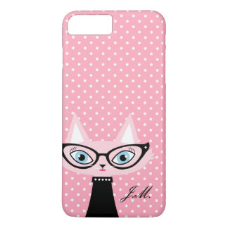 Chic Cat and Polka Dots iPhone 8 Plus/7 Plus Case