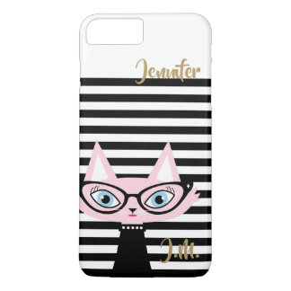 Chic Cat Monogram iPhone 8 Plus/7 Plus Case