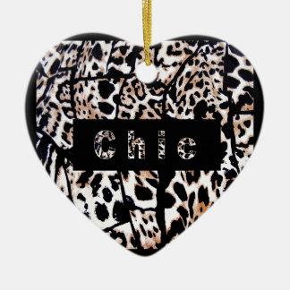 Chic Ceramic Heart Ornament