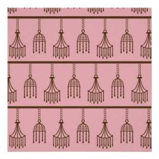 Chic Chandeliers Pink Posters