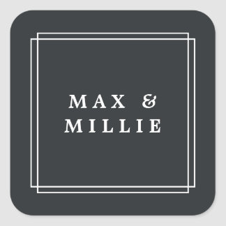 Chic Charcoal | Boutique Square Sticker