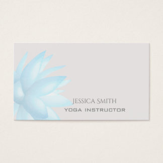 Chic charming elegant watercolor lotus flower business card