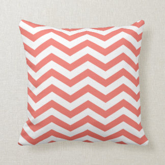 Chic Chevron | coral Throw Pillow