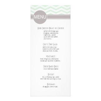 Chic Chevron Dinner Menu | mint Personalized Announcement
