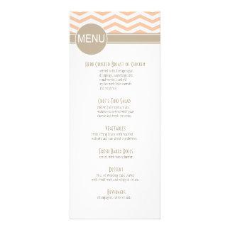 Chic Chevron Dinner Menu | peach Announcements