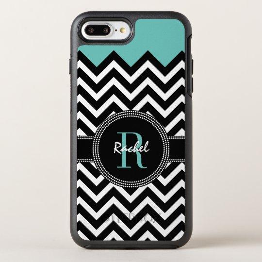 Chic Chevron Name and Monogram OtterBox Symmetry iPhone 8 Plus/7 Plus Case