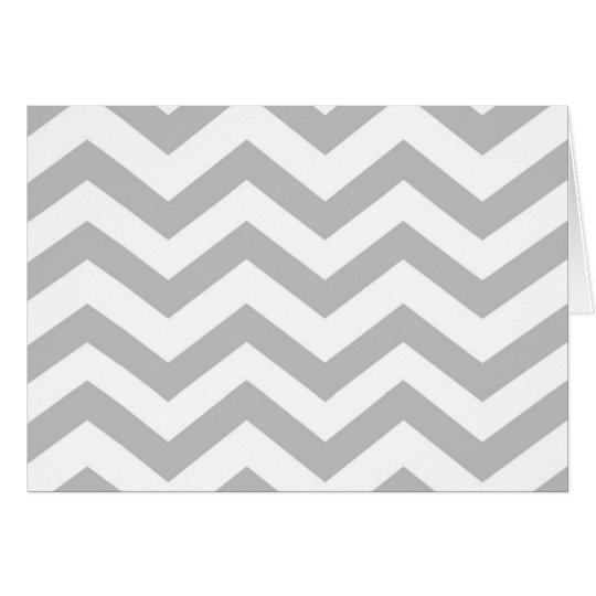 Chic Chevron Note Card- Heather Grey Card