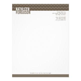 Chic chevron pattern ash gray two tone stylish letterhead