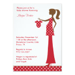 """Chic Christmas Mom to Be 5"""" X 7"""" Invitation Card"""