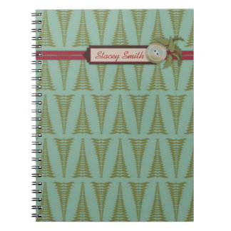 Chic Christmas Notepad Spiral Notebook