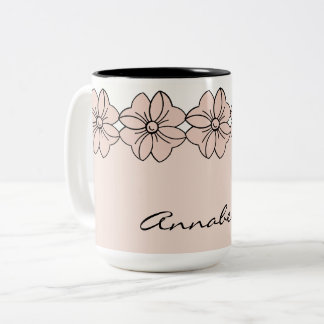 CHIC COFFEE MUG_GIRLY PANTONE 2017 PALE DOGWOOD Two-Tone COFFEE MUG