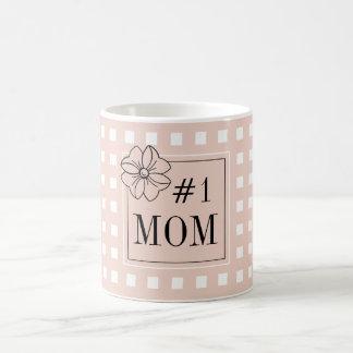 CHIC COFFEE MUG_PRETTY FOR #1 MOM_PALE DOGWOOD COFFEE MUG