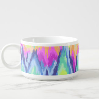 Chic Colorful Abstract Neon Chevron Pattern Bowl