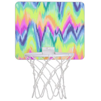 Chic Colorful Abstract Neon Chevron Pattern Mini Basketball Hoop