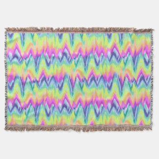 Chic Colorful Abstract Neon Chevron Pattern Throw Blanket