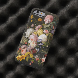 Chic Colorful Baroque Flowers Still Life Painting Tough iPhone 6 Case