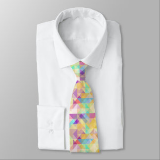 Chic Colorful Funky Retro Triangles Mosaic Pattern Tie