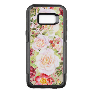 Chic Colorful Mixed Flowers Design OtterBox Commuter Samsung Galaxy S8+ Case