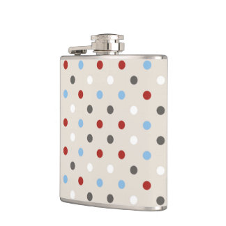 Chic Colorful Polka Dots Pattern Flasks