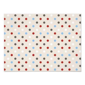 Chic Colorful Polka Dots Pattern Photo Print