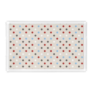 Chic Colorful Polka Dots Pattern Serving Tray