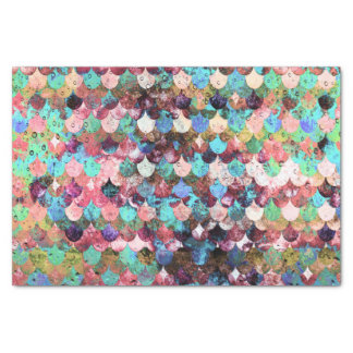 Chic Colorful Water Mermaid Fish Scales Tissue Paper