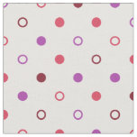 Chic colourful coral purple polka dots pattern fabric