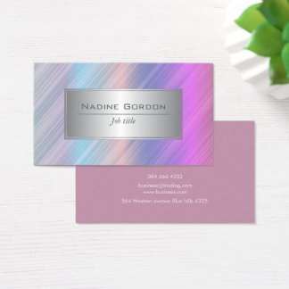 Chic colourful stripe business card