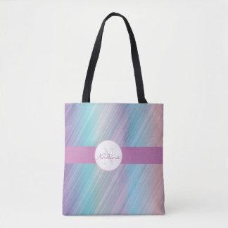 Chic colourful stripe tote bag
