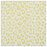 Chic colourful yellow cheetah print pattern fabric