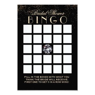 Chic Confetti Diamond Bridal Shower Bingo Cards
