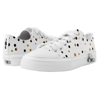 Chic Confetti Dots Personalized Monogram Low Tops
