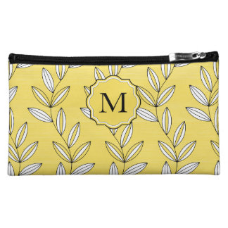 CHIC COSMETIC BAG BUTTER YELLOW FLORAL/VINES