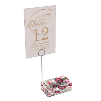 Chic Country Signature Floral Table Card Holders
