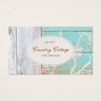 Chic Country Vintage Rustic Wood Boutique Business Card
