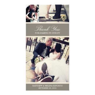 CHIC CREAM GRATITUDE | WEDDING THANK YOU CARD PHOTO GREETING CARD
