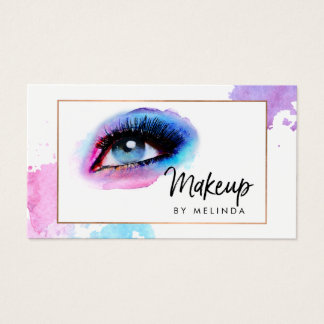 Chic Creative Watercolor Eye Makeup Artist II Business Card