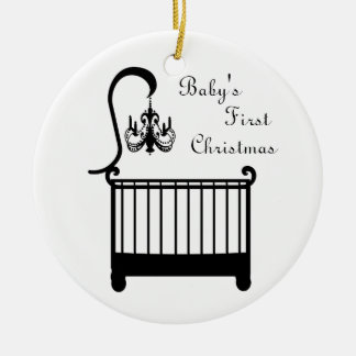 Chic Crib Chandelier Baby's First Christmas 2010 Ceramic Ornament