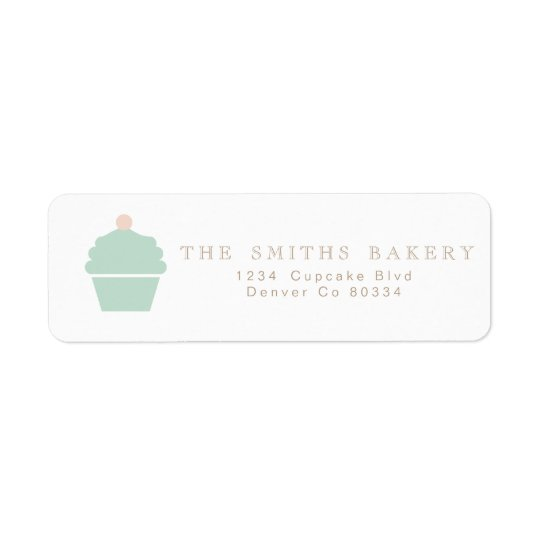 Chic Cupcake Address Label