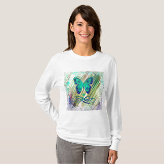 Chic Cute Tropical  Butterfly Ladies Tee Shirt