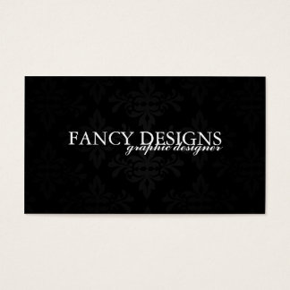 Chic Damask Business Card