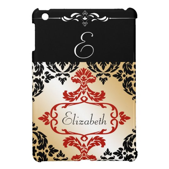 Chic Damask Monogrammed  iPad Mini Case