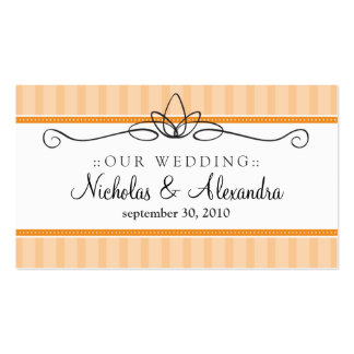 Chic Deco Coral Wedding Website Card Business Card Template