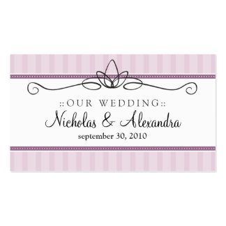 Chic Deco Lavender Wedding Website Card Business Cards