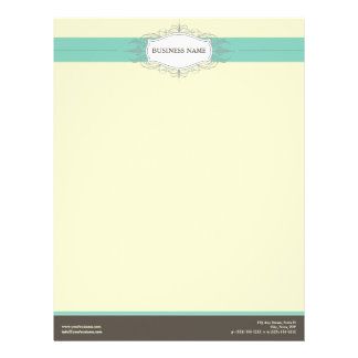 Chic Deco Teal Customized Letterhead