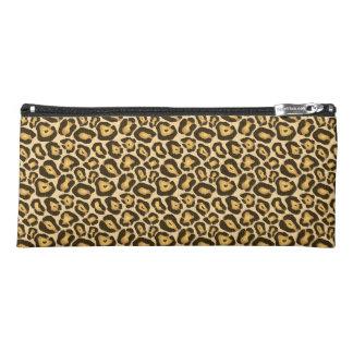 Chic Designer Leopard Print Pencil Case