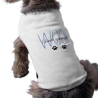 "CHIC DOG TSHIRT_""I HAD YOU AT WOOF"" PAW PRINTS SHIRT"